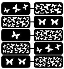 Butterflies Nail Art Vinyl Stencil Guide Sticker Manicure Hollow Template