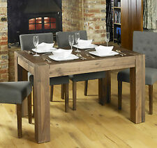 Shiro Dining Table Small Four Seater Solid Walnut Dark Wood Furniture