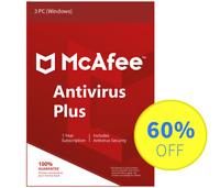 McAfee Antivirus Plus 2018 for Windows Internet - 3 PC, 1 Year (Subscription)