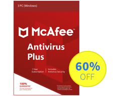 McAfee Antivirus Plus 2018 for Windows Internet - 3 PC, 1 Year (Subscription)
