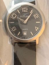 Watch with Date. Leather Band Georg Olsen Denmark L1103b New