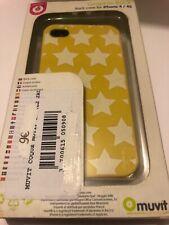😍 coque protection téléphone iphone 4 4s rigide back case jaune