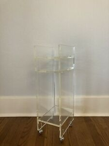 Vintage Rare Lucite Hollywood Regency Telephone / Plant Stand
