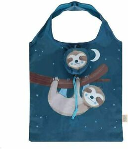 Foldable recycled plastic eco shopping bag with Sloth/Panda design