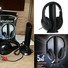 5 in 1 HiFi Wireless Headset FM Radio Monitor MP3 PC TV Audio Mobile Phones GN