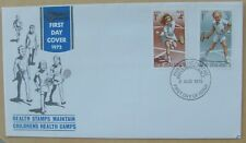 1972 New Zealand First Day Cover Tennis Health Stamps