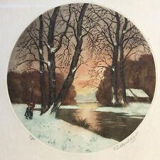 Eugène Jacques SCHLUMBERGER (1879-1960) solitude d'hiver