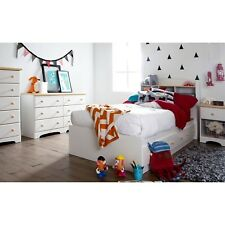 Bookcase Twin Headboard White Maple Storage Shelf Child Bedroom Furniture New