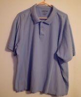 Men's IZOD 2X Large Shirt Short Sleeve Light Powder Blue Cotton VG