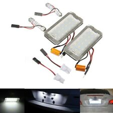 2 X Error Free White LED License Plate Lights Number Tail Lamp For Fiat 500