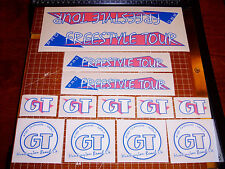 1986 GT BMX Pro Freestyle Tour, restoration decals on clear PINK THIN, ACS