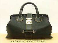 Louis Vuitton Authentic SUHALI Leather Black L'ingenieux PM Hand Bag Lingenieux
