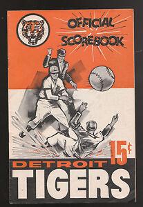 1962 TIGER STADIUM DETROIT TIGERS NEW YORK YANKEES MICKEY MANTLE SCOREBOOK RARE