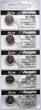 10PC Energizer 357 303 Silver Oxide D303, D357, D303/357, GS13 - Made in USA