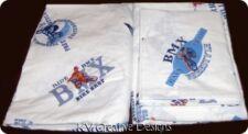 POTTERY BARN KIDS BMX EXTREME SPORTS Bike Queen Flat Sheet Pillowcase Fabric Set