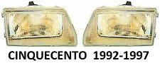 FIAT CINQUECENTO 1992-1997 PAIR HEADLAMPS HEAD LAMP HEADLAMP HEADLIGHTS LHD
