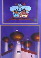 Rare! Disney Aladdin Jafar Original Art Painting Background + Cel Animation cell