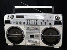 LASONIC TRC-931 MackDaddy Radio Headphone Jack Dual Cassette Boombox Used Ex++