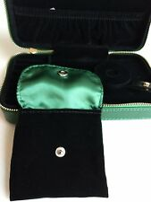 AUTHENTIC PANDORA GREEN BRACELETS/CHARMS/EARRINGS/RINGS TRAVEL JEWELRY CASE