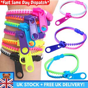 3 Sensory Zipper Fidget Bracelet Zip Stim Toys Stress Anxiety Relief Autism ADHD