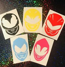 Power Rangers Vinyl Decals x 5 for Drinks Bottles, Lunch Boxes, Mobil's, Glasses