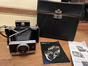 Polaroid 195 Instant Land Camera with Tominon 114mm f3.8 lens Case & Hard Cover