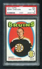 1971 Gerry Cheevers Topps #54 Bruins PSA 8