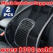 2x Mesh Back Rest Lumbar Support Office Chair Van Car Seat Home Pillow Cushion