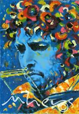 Bob Dylan musician writer oil canvas from artist art Image picture poster
