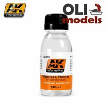 ODORLESS THINNER for Enamel Products 100ml Bottle - AK Interactive 050