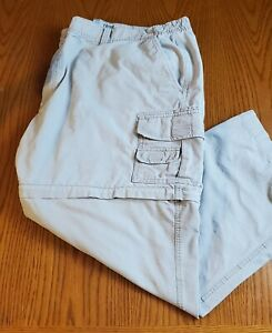 Red Head Big Men's 54 x 32 Cargo Pants/Shorts Convertible Zip Off Khaki Pockets