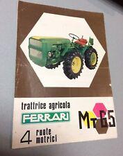 TRATTORE TRATTRICE AGRICOLA FERRARI MT65 LUZZARA REGGIO EMILIA OPUSCOLO PUBBL.