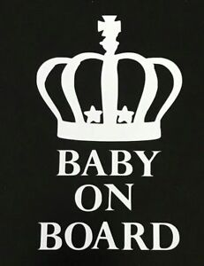 Baby On Board Car Decal Van, Window Stickers
