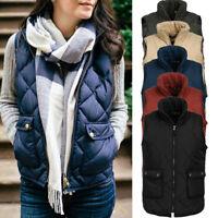 Slim Down Cotton Women's Jacket Sleeveless Puffer Vest waistcoat Winter Coat AU