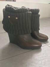 2ff57a2f412 NEW GUCCI Knee Length Wedge Wool Sock Boots UK5 EU38