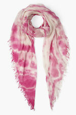 Chan Luu Rosebloom Pink Tie-Dye Cashmere And Silk Scarf