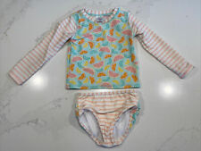 Rufflebutts Toddler Girl Two Piece Swimsuit With Ruffle Accents Size 3T