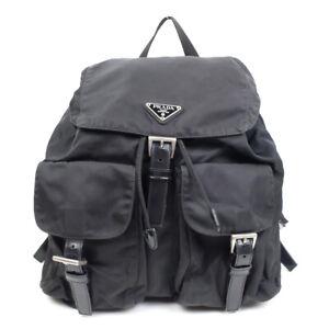 LOUIS VUITTON Nylon Backpack Black