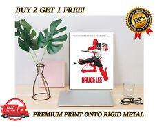 Cartel De Metal Bruce Lee Película Clásica Regalo Placa de Impresión de Arte