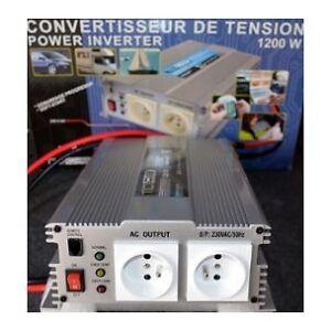 Convertisseur De Tension 24v/220v 1200w-2400w En Pointe