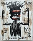 Beautiful painting J. M. Basquiat. Oil on Canvas. Signed
