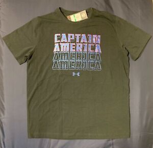 Under Armour Marvel Avengers Captain America T-Shirt Loose Fit Black 1327102 001