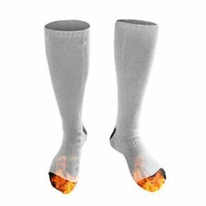 Heated Socks, Electric Heating Socks for Men Women, Winter Warm Cotton Socks