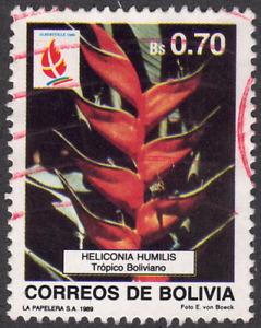 1989 Bolivia SC# 784 - F - Flowers - Used
