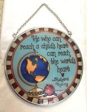 Rudyard Kipling Deb Stran Amia Suncatcher Teacher Globe World Apple Education