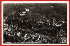 Schwarzburg 1942 - Blick vom Trippstein auf Schloß und Schloßterrasse - AK 347