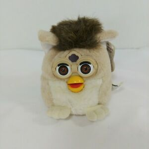 Vintage 1999 Furby Buddies Joke More Plush W/ Tags Tan & White Cream Brown Eyes