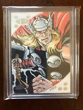 2017 Upper Deck Marvel Premier Mitch Ballard Thor Base Sketch #d 1/1