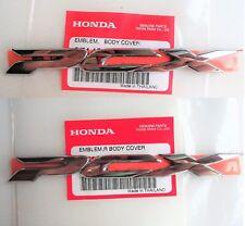 Honda PCX125 Sticker Badge Logo Fairing Emblem 3D Silver ** GENUINE HONDA **