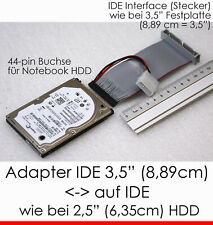"Cable Adapter for 2,5 "" Ide Notebook Hard Disc Female > 3,5 "" Controller Male"